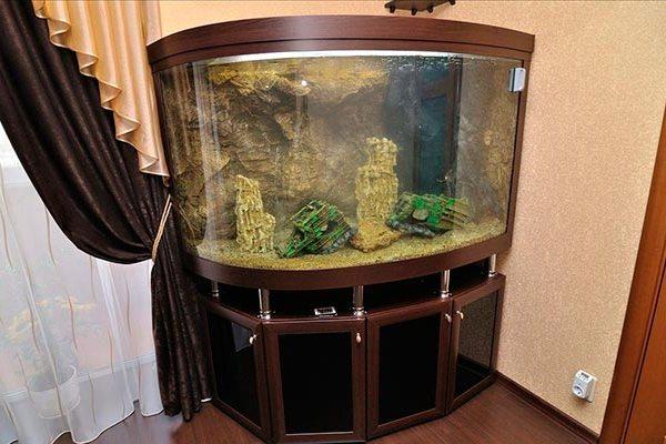 аквариум угловой